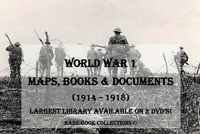 600 World War 1 Maps & Books - Dvd - Battles Ww1 Military Medal Research History