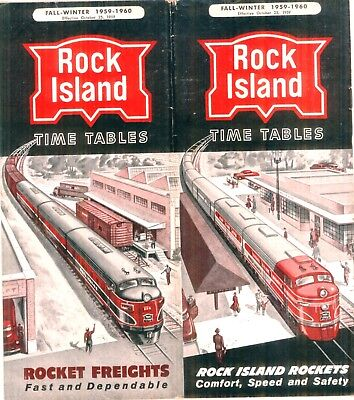 Chicago, Rock Island & Pacific RR, system passenger time table  October 25, 1959