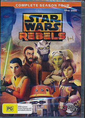 Star Wars Rebels Complete Season 4 Four DVD NEW Region 4