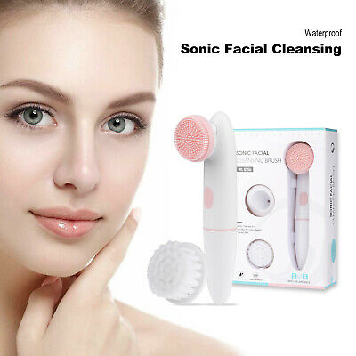 New Multifunction Electronic Cleansing Facial Skin Scrubber Brush Face Massage