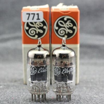 A pairs 6EU7 TUBES IN ORIGINAL BOX US GE The same batch Ring Getter