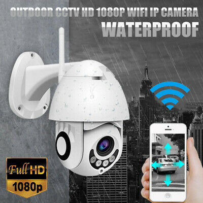360° Smart Wireless CCTV HD 1080P WIFI IP Camera Outdoor Home Security IR Cam AU
