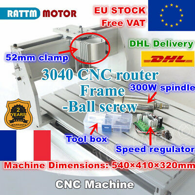 【FRA】3040 CNC Router Ball Screw PCB Milling Machine 220V 52mm +300W DC Spindle