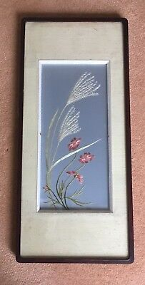 Beautiful antique framed silk embroidery (ref 18.11.014)