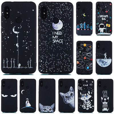For Xiaomi F1 A2 Lite A1 6X 5X 8 Pro Slim Soft Silicone Painted TPU Case Cover