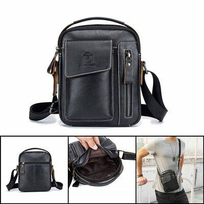 Vintage Men's Genuine Leather Business Messenger Bag Cross Body Shoulder Purse
