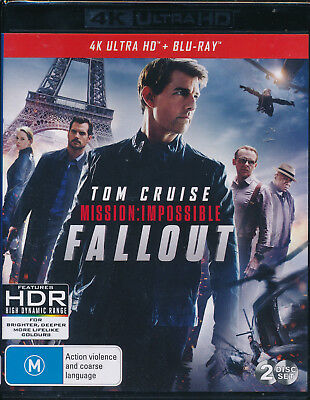Mission Impossible Fallout 4K Ultra HD Blu-ray UHD Region B NEW