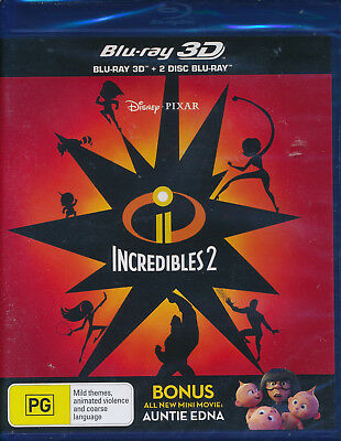 Incredibles 2 3D & Blu Ray NEW Region A B C