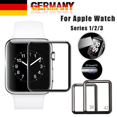 3D Full Covered Glas Displayschutzfolie für Apple Watch iWatch 38/42/40 /44 mm