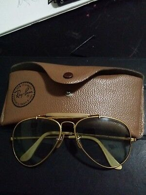 Vintage Ray Ban The General  B&l Made In Usa Sunglasses Frame With Original Case
