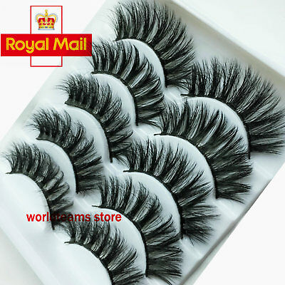 New 5Pairs 3D/6D False Eyelashes Set Mink Long Natural Thick Soft Fake Lashes ❤️
