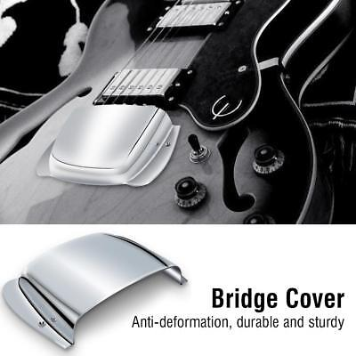 Alloy Guitar Bridge Cover Protector Replacement Parts for PB Bass Guitar Silver
