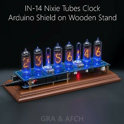 IN-14 NIXIE TUBES Clock Shield FOR Arduino, Remote, GPS