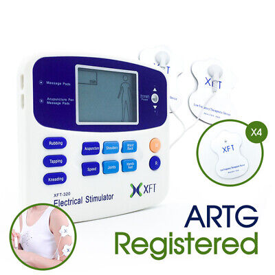 AU Electrical Physio Tens Machine XFT-320A Massager Tens/Back Pain/ 4 PADS ARTG