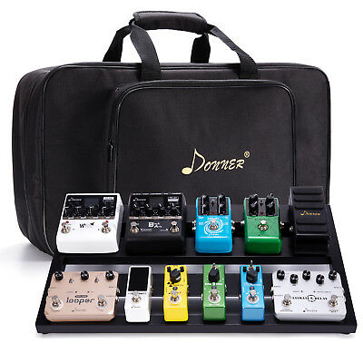 Donner DB-3 Pedal Board For Guitar Effect Pedals With Soft Case Bag Portable