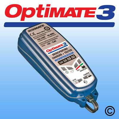 OptiMate 3 - 12v Battery Charger, Optimiser and Maintainer -  SUITABLE FOR ALL T