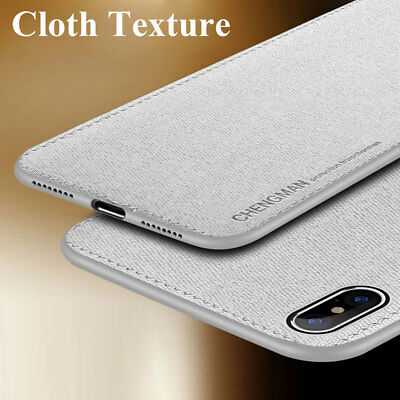 Hybrid Soft TPU Fabric Case Magnetic Shockproof Cover for iPhone XS Max XR X 7 8
