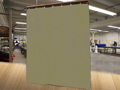 Economy Tan Curtain Panel/Partition, 8 H x 4½ W, Non-FR