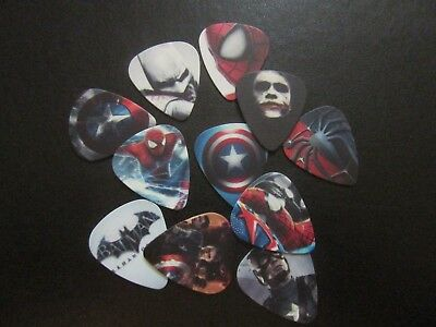 Super Hero Guitar Plectrum Picks 0.71Mm Batman Spiderman Captain America Thor