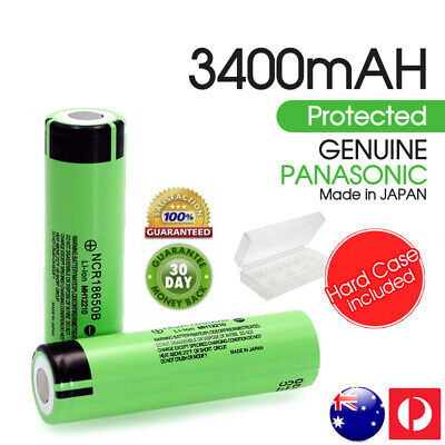 Panasonic NCR 18650B 3400mAh Lithium Li-ion Flat Top Rechargeable Battery