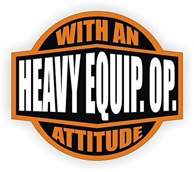 "Heavy Equipment Operator With  (3 Pack) HardHat Sticker (size: 2"" color: OR/BLK)"