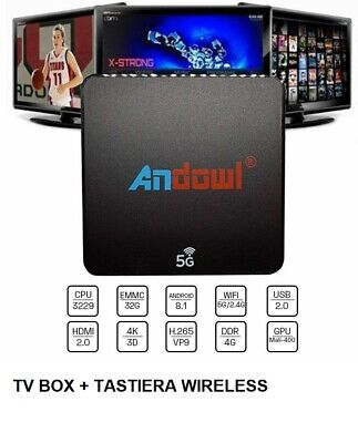 Tv Box Smart Tv Android 8.1 Oreo 5G Quad Core  4K Wifi 4Gb Ram 32Gb Iptv Kodi Hd