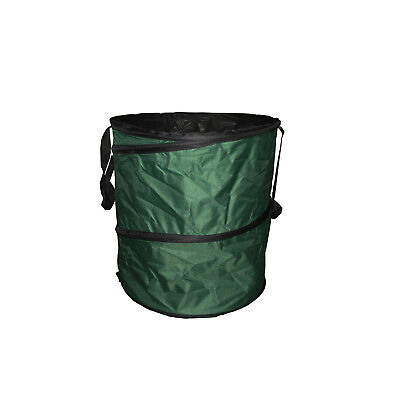 VERY LARGE POP UP WATERPROOF GARDEN COLLECTION BAG + HANDLES leaves rubbish