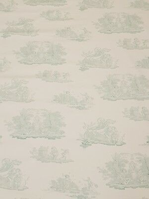 Laura Ashley Toile Topaz Curtain Craft Fabric 3 Metres