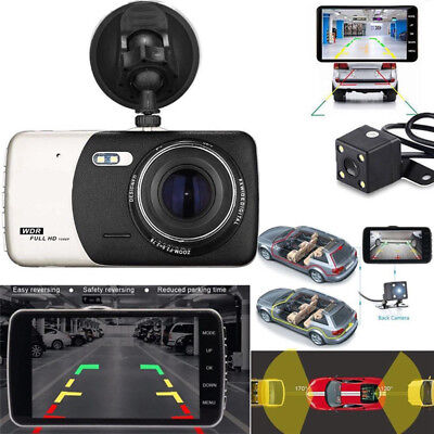 GPS Dual Lens Camera HD Car DVR Dash Cam Video Recorder G-Sensor Night VisionFO