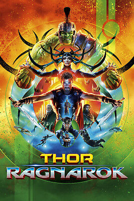 Thor Ragnarok 2 Movie Poster Canvas Picture Art Print Premium Quality A0 - A4
