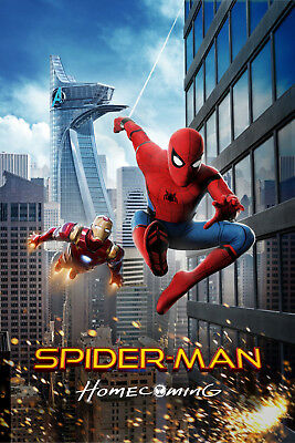Spider-Man Homecoming 4 Movie Poster Canvas Picture Art Print Premium  A3 - A4