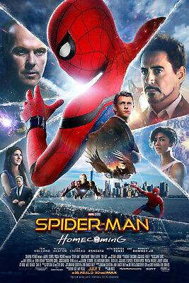 Spider-Man Homecoming 1 Movie Poster Canvas Picture Art Print Premium A0 - A4
