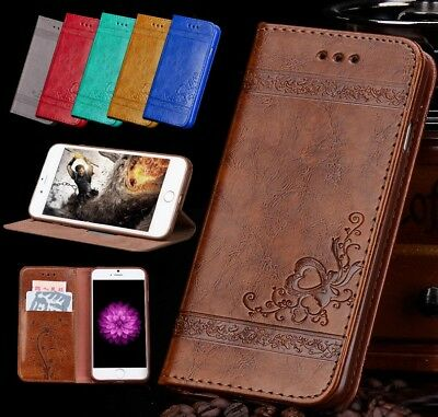 Genuine Leather Folio Flip Wallet Case Cover For Apple iPhone 10 X BY