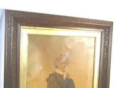 Antique 19th Century Pressed Wood Gold Gilt Fancy Ornate Picture Painting Frame