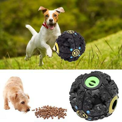 1PC Dog Pet Puzzle Toy Tough-Treat Ball Mental Food Dispenser Interactive Play ^
