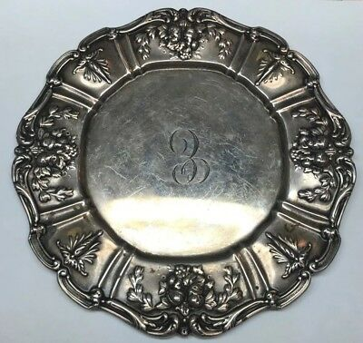 "Reed & Barton Sterling Silver Francis I Dessert Sandwich 7"" Plate Monogrammed"