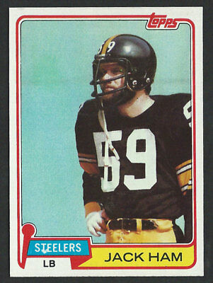 a4c873fe856 1981 TOPPS  235 JACK HAM Pittsburgh Steelers Pro Football Hall of Fame 1988