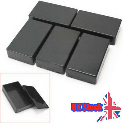 5 Pcs ABS Plastic Enclosure Box For Electronic Project Circuit Black Case DIY UK