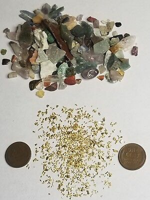 1/2 lbs Gold Paydirt 100% Unsearched and Guaranteed Added GOLD! And Gemstones