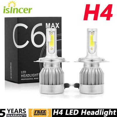 1pair C6 COB H4 22500LM 150W LED Car Headlight Kit Hi/Lo Turbo Light Bulbs 6000K
