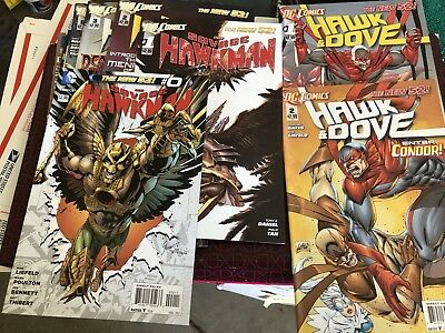 DC SAVAGE HAWKMAN 0-13 And Hawk And Dove 1 And 2 NEW 52