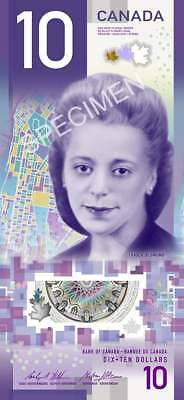 NEW Canada Vertical $10 Dollars Banknote Bill Viola Desmond 2018 Uncirculated