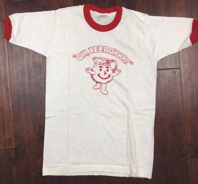 Vintage Kool Aid T-Shirt red white youth large (14-16) OH Yeeaahhh!