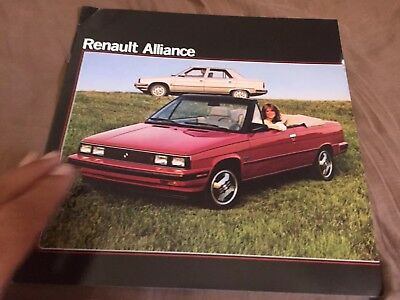1985 Renault 9 Alliance USA Market Color Brochure Prospekt