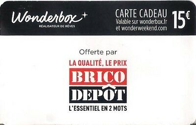 Carte Cadeau Bon De Réduction Wonderbox 2 X 15 Eur 5