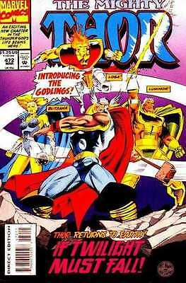 Mighty Thor #472 (March 1994) - Introducing the Godlings - Thor Returns to Earth