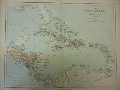 Map of The West Indies and the State of Central America. (Nr. 34) from Philips'