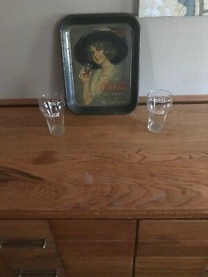 Coke Tray With 2 Coke Glases