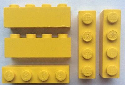 4x Lego 2653 Brick Modified 1 x 4 with Groove Black