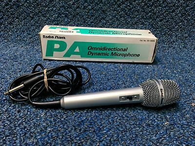 Radio Shack Dynamic Omnidirectional Microphone w/box & built in cable